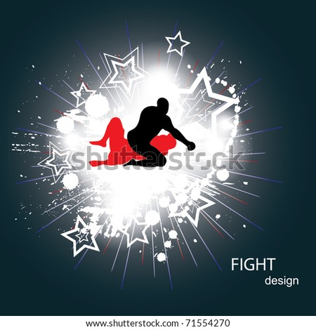 Fighters - stock vector