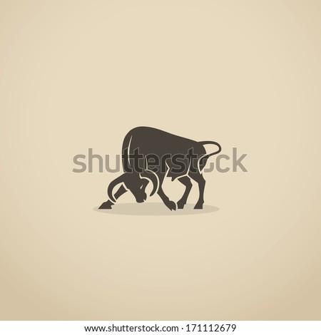 Fighting bull - vector illustration - stock vector