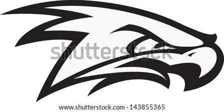 Fighting Hawk. A vector cartoon of a Raptor ready for a fight. - stock vector