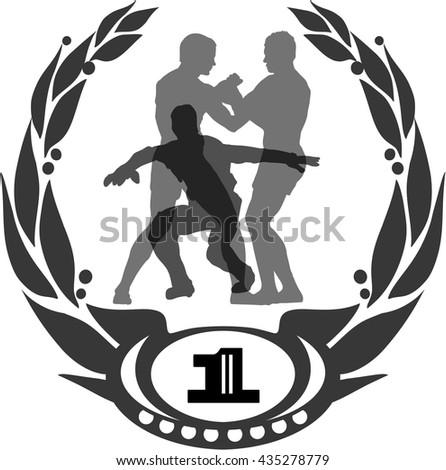 Fighting scene - stock vector