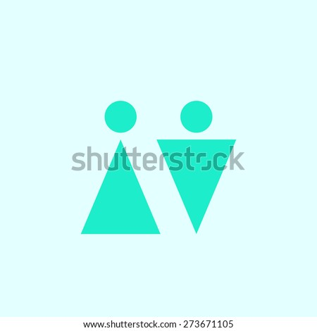 Figure man and woman icon, vector illustration. Flat design style - stock vector
