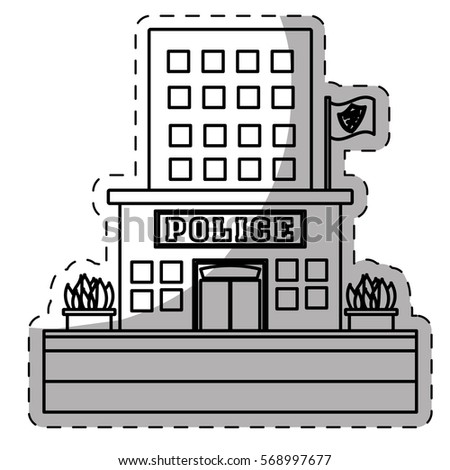 Police Station Building Clipart Black And White | www ... Police Station Building Clipart Black And White