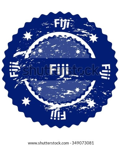 Fiji Country Grunge Stamp - stock vector