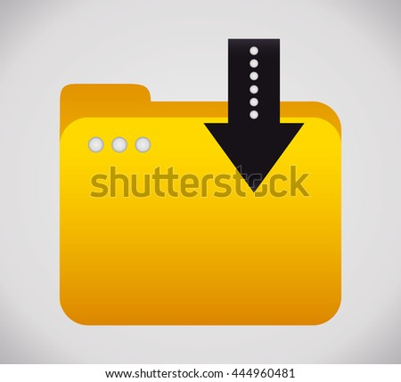 File concept represented by yellow folder icon. Colorfull and flat illustration  - stock vector