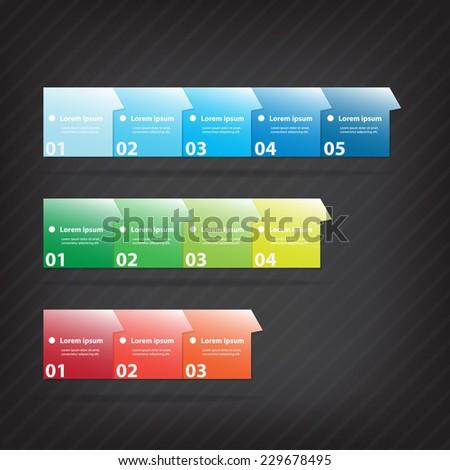 File Folder. Colorful vector design for workflow layout, diagram, number options, web design, presentation template, infographics. - stock vector