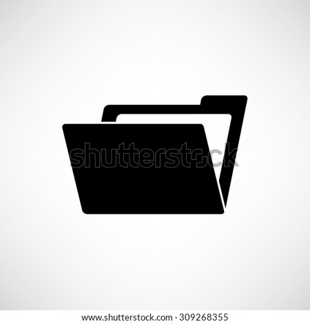 File Folder - vector icon - stock vector