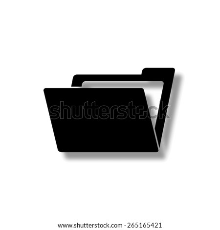 File Folder  - vector icon with shadow - stock vector