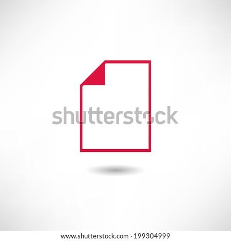 File icon - stock vector