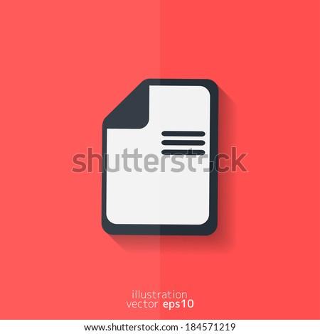 File icon. Data symbol. Document format. Flat design. - stock vector