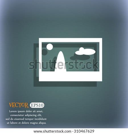File JPG sign icon. Download image file symbol. On the blue-green abstract background with shadow and space for your text. Vector illustration - stock vector