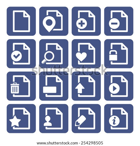 File Management Icons Set - stock vector