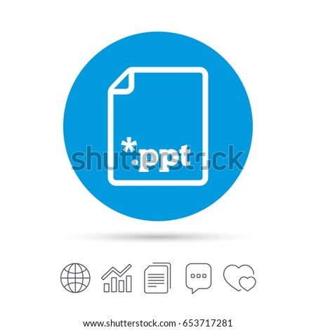 file presentation icon download ppt button stock vector 653717281, Powerpoint templates