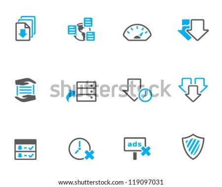 File sharing icon series in duo tone color style - stock vector