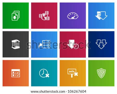 File sharing icon series in Metro style