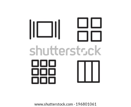 File View Options Outline Icon Symbol - stock vector