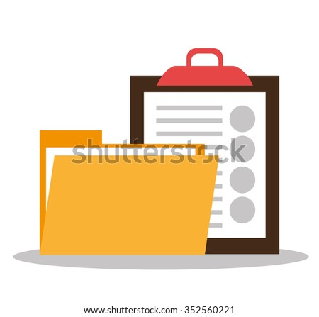 Files and documents  graphic design, vector illustration eps10 - stock vector