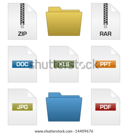 files and folders - stock vector