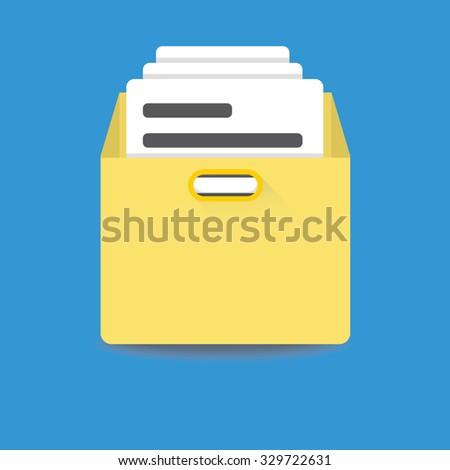 files archive box icon - stock vector