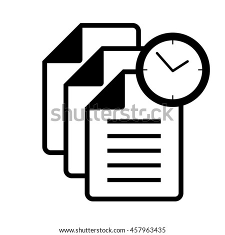 files time icon - stock vector