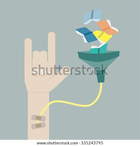 Fill knowledge - stock vector