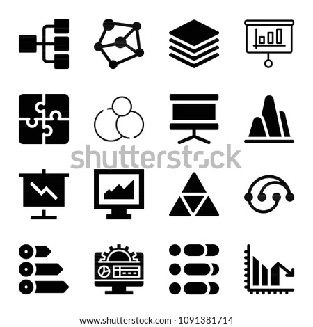 Filled Graph Icon Set Such Panel Stock Vector 1091381714 Shutterstock