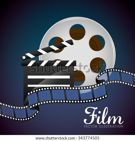 Film and cinema icons graphic design, vector illustration eps10
