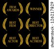 Film Awards Winners 2 - stock photo
