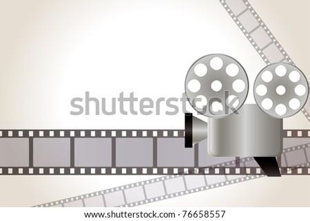 Film background. Illustration vector. - stock vector