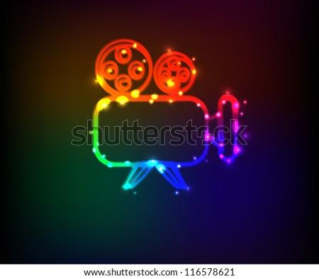 Film camera symbol,abstract,Vector - stock vector