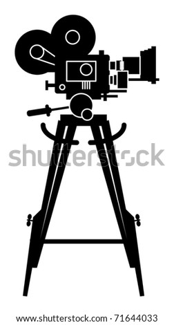 Film cinema camera, vector illustration - stock vector