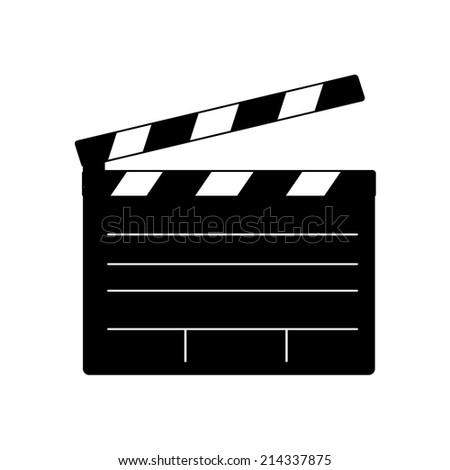 film clap board cinema vector icons - stock vector