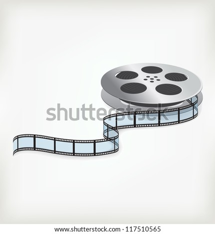 Film coil on a white background - stock vector