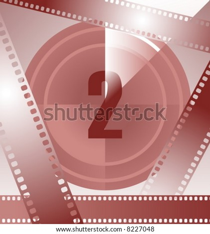 film countdown at number 2 - stock vector