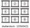 film countdown numbers vector illustration - stock vector