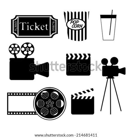film design over white  background vector illustration - stock vector
