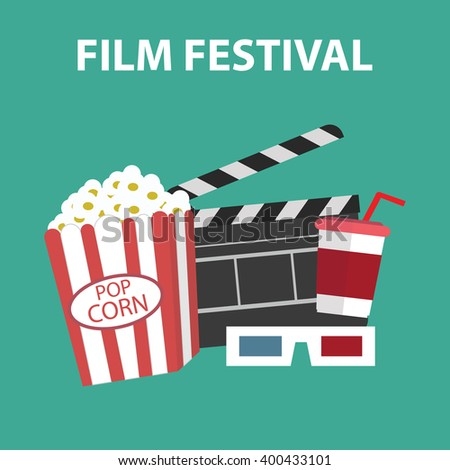 Film festival, Video and Movie icons set