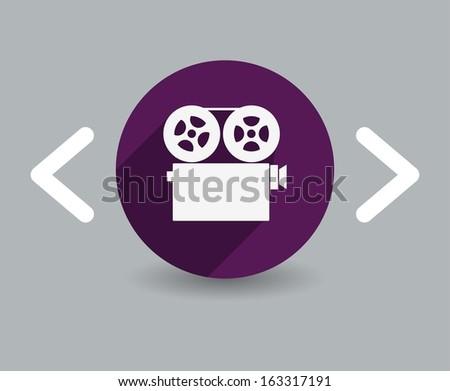film icon - stock vector