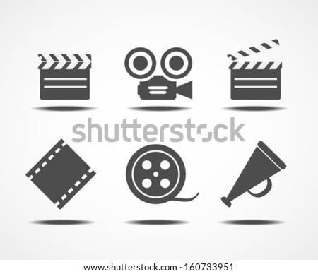 Film icons - stock vector