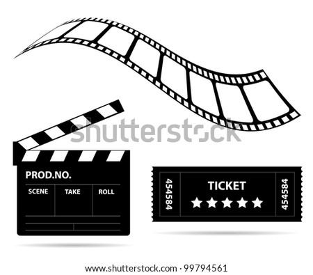 Film industry - stock vector