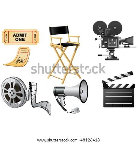 Film Industry attributes - stock vector