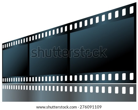 Film isolated on white background. Vector drawing. - stock vector