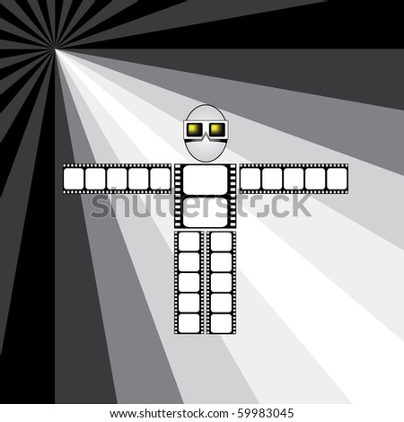 film mascot - stock vector