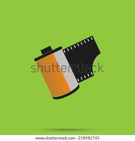 Film 35 mm ,Camera film roll - stock vector
