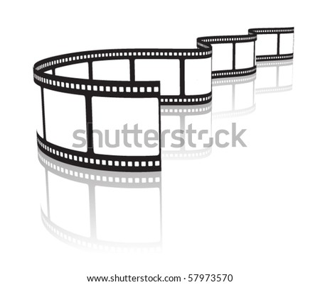 Film on a white - stock vector