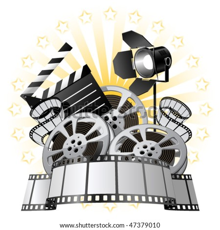 Film Premiere poster - stock vector