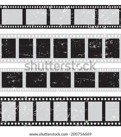 Film reel - horizontal retro seamless - stock vector