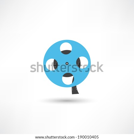 film reel icon - stock vector
