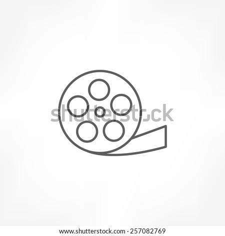 film reel icon - stock vector