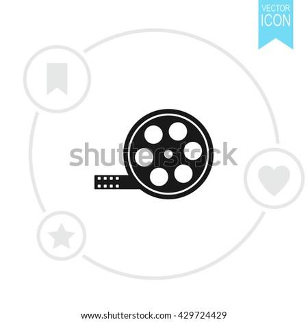 Film reel Icon.  - stock vector