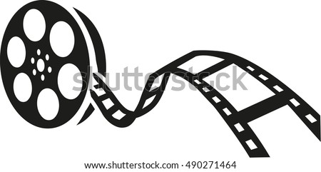 film reel movie stock vector hd royalty free 490271464 shutterstock rh shutterstock com movie film roll clip art movie film clip art border